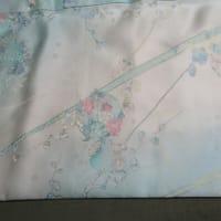 小紋袷 八掛交換の為の仕立て替え 洗い張り 正絹素材