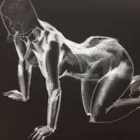 Nude-Muse-angel-Tableau-ヌード-芸術-アート-絵画:這いつくばる