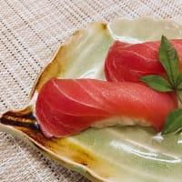 小田原産『キハダマグロの握り寿司』を漢気タイムで!小田原早川漁村 漁師の浜焼 あぶりや