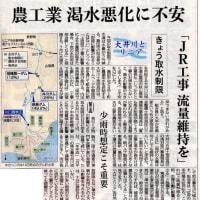 リニア新幹線の行方(大井川取水制限)!