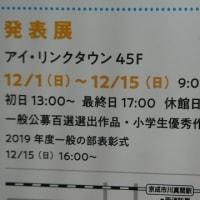 『第15回 市川フォトフェスティバル2019』発表展が12月1日~15日まで開催されるよう@アイ・リンクタウン45F