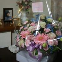 女将の誕生日・・・横浜の長女から誕生日(と母の日を兼ねて)のお花が届きました。
