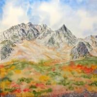 涸沢岳と紅葉