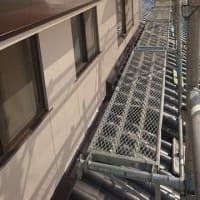 倉敷市栗坂で住宅外壁塗装改修工事現場で外部足場撤去