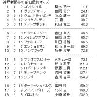 神戸新聞杯の前日最終オッズ