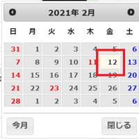 【Google chrome(Ver.88)の不具合に注意!】意図しない日付が入力されてしまう可能性があります