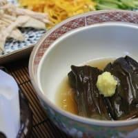 和風献立 冷やしソーメン・天ぷら・かぼちゃの含め煮・なす煮・卵豆腐