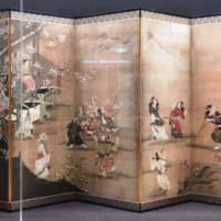 特別展「桃山、天下人の100年」展(東京国立博物館):貴公子(赤い着物を着て扇を手にする子ども)とその一団が風流踊りを眺める!