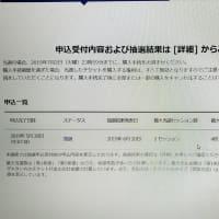 東京五輪チケット抽選当選結果発表