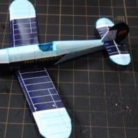 フリーのペーパクラフト-複葉機SV-4C-Rothmansを作ってみる-その2