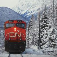 世界の車窓・1月カナダ「カナディアン・ナショナル鉄道のディーゼル機関車」