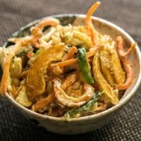 セミドライ野菜のかき揚げ丼