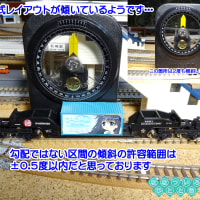 ◆鉄道模型、いつの間にか、固定式レイアウトが傾いているようです…