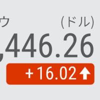 7日 NYダウ平均 小反発16ドル高 金融緩和の長期化観測が支え