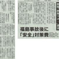 #akahata 福島事故後に「安全」対策費増大/関電「原発マネー」還流・・・今日の赤旗記事