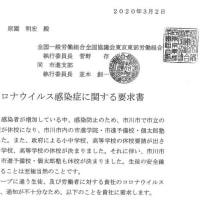 市進支部 新型コロナウイルスに関連して要求書を提出