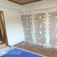【和室】コンクリート壁…ベニア・パテ施工