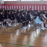 岩瀬小学校の入学式に参加