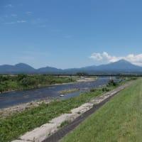 日野川と大山