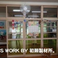 三和保育所壁掛扇風機取付工事(いわき市三和) ~工事完了~