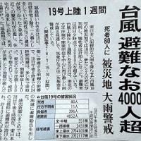 台風19号②