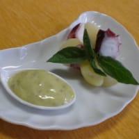 タコとジャガイモのバジルマヨディップ