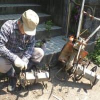 耕運機のロータリー刃を交換
