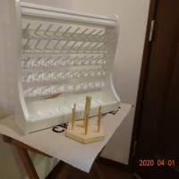ホワイトの糸立てとメープルのスーパーワイドを組み立てました。
