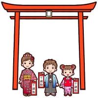 七五三1(秋の季節・行事/枠・ふきだし)