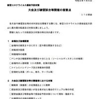 大会等コロナ対策 ※詳細は県協会HPに掲載