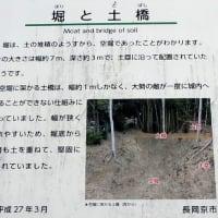 京都府・長岡京市「神足神社の敷地内に残る空堀と土塁」