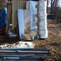 太陽温水パネル架台分解