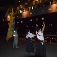 豪華客船にっぽん丸寄港(館山夕日桟橋)