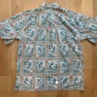 プルオーバーボタンダウンアロハシャツ