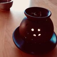土曜日、小雨、抹茶カプチーノ。