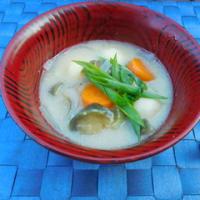 豆腐だんごのお月見汁