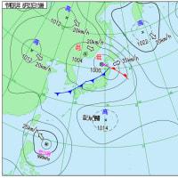 8月23日 アメダスと天気図。