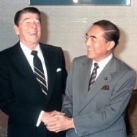 中曽根康弘元首相死す。「従軍慰安所」設置関与、憲法違反の靖国公式参拝、日本はアメリカの盾となる不沈空母発言。安倍首相そっくりのアメリカべったり右翼政治家だった。