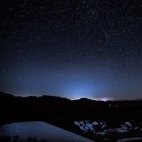 星峠の棚田と星空