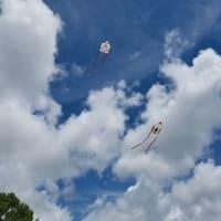 フロリダ(アメリカ)森上ミュージアムで凧作り「ロケットカイト」