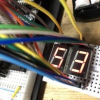 I/Oエキスパンダ2個で7セグメント2桁表示(micro:bit)だよ