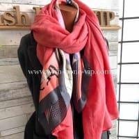 首元ふわふわ暖かく☆無地のストール&室内スカーフのコーディネート。3日間限定セール