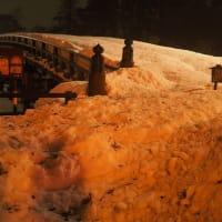 大雪の高田城址公園
