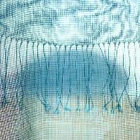 曽田さんの搦み織りショールの新作