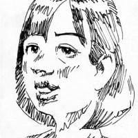 芦田愛奈(似顔絵)