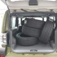 工場へのタイヤの運搬にバンの代わりにタフな荷室を持つ「タフト」で出発です!