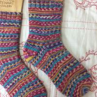 手編み靴下 作品NO.285