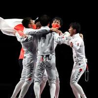 オリンピック フェンシング男子エペ団体 日本 金メダル   NHKニュース  2021年7月30日 20時55分