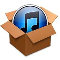 iTunes のセットアップ ファイルを展開する