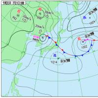7月21日 アメダスと天気図。